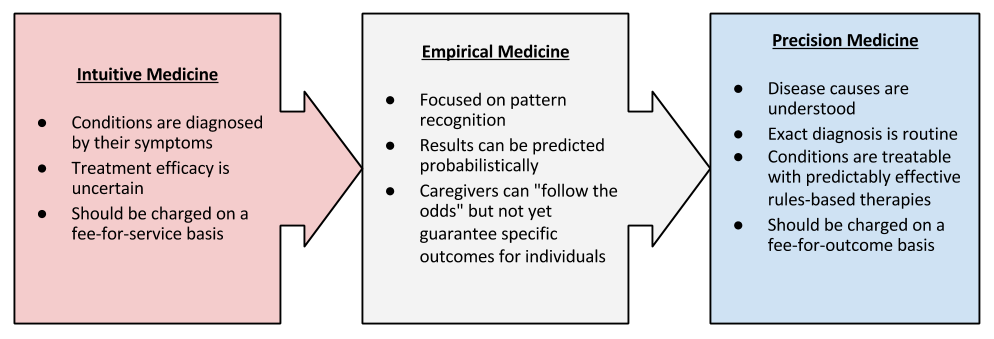 Intuitive-Precision-Empirical flow chart