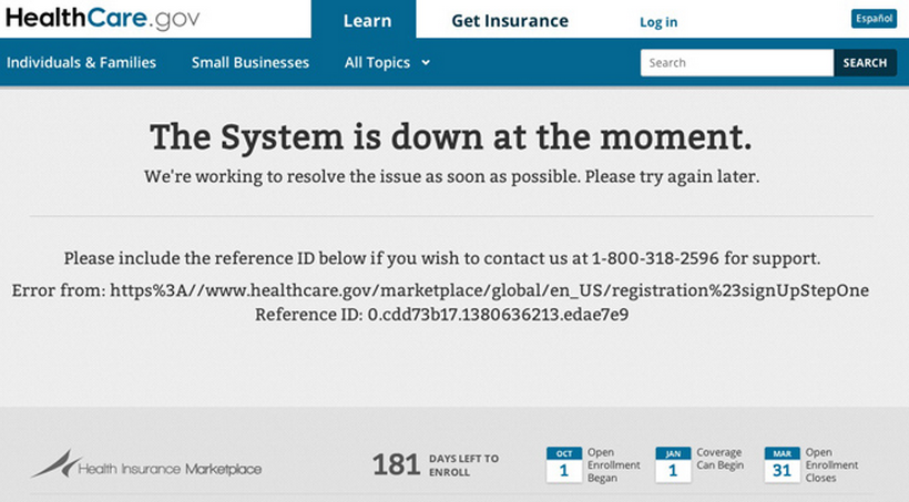 HealthcareDotGovDown