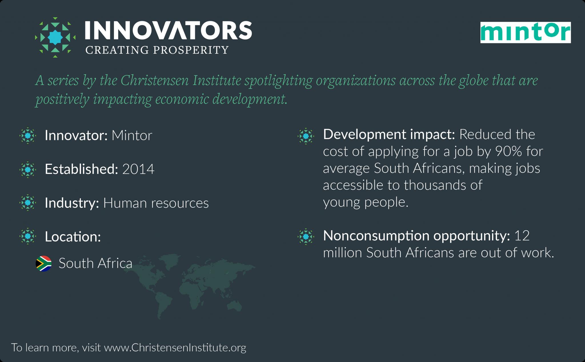 Innovators Creating Prosperity: Mintor